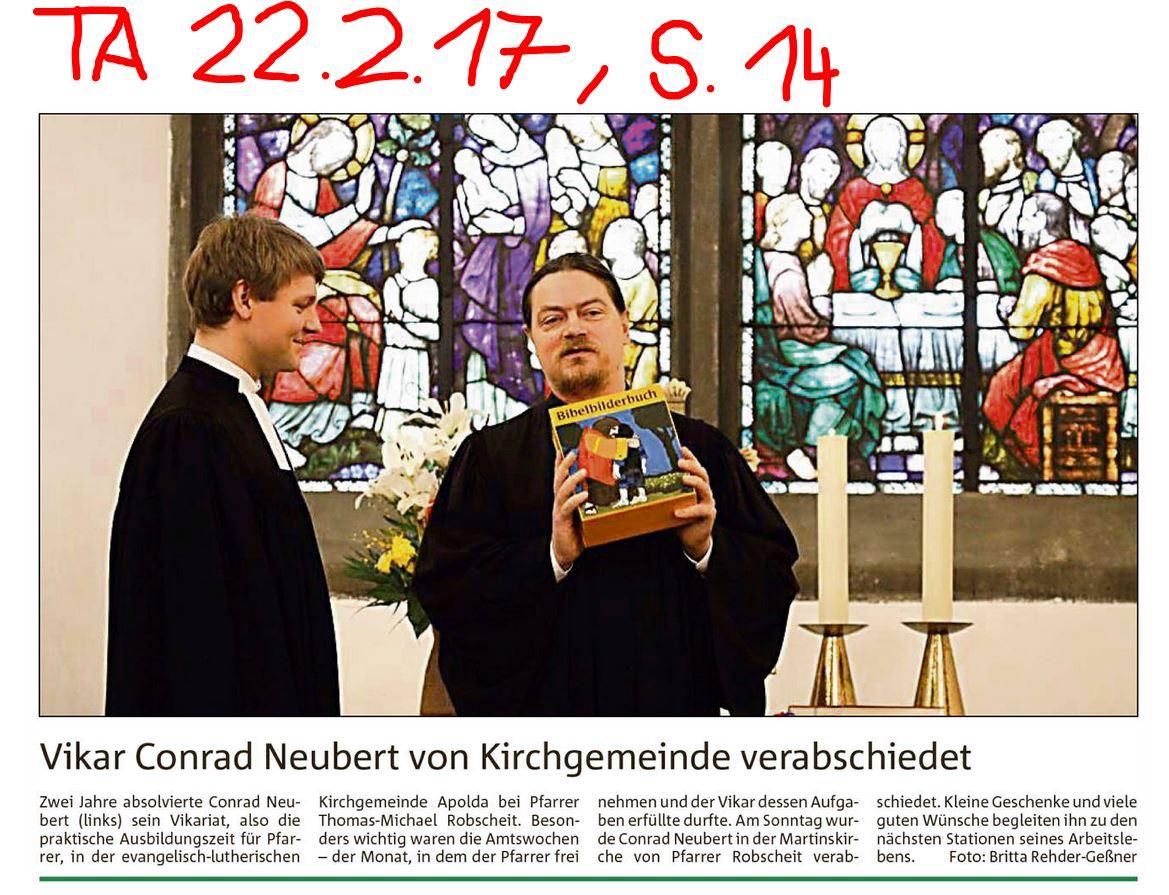 Verabschiedung Conrad Neubert; (c) B. Rehder-Geßner