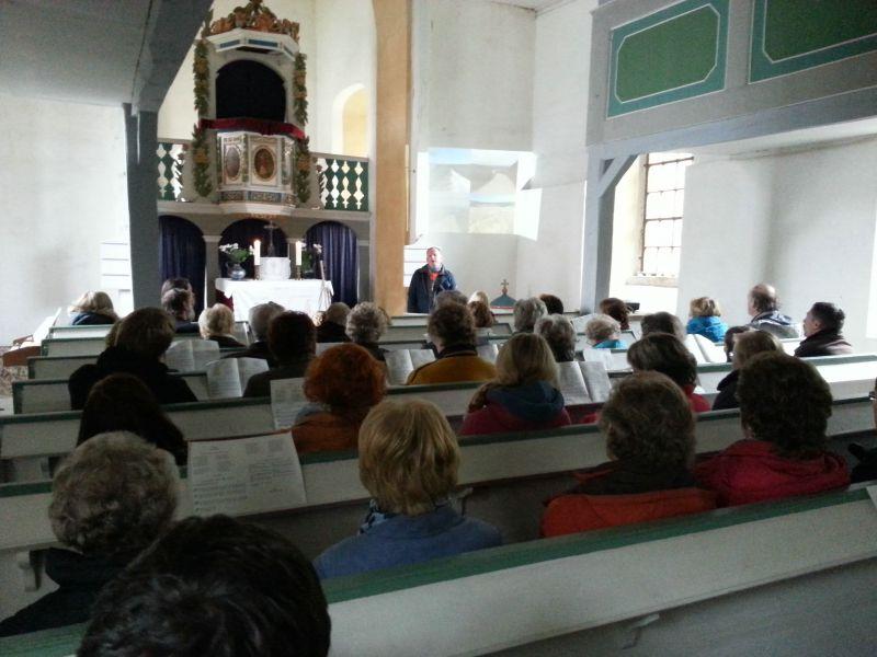 Jakobsweg - während des Gottesdienstes