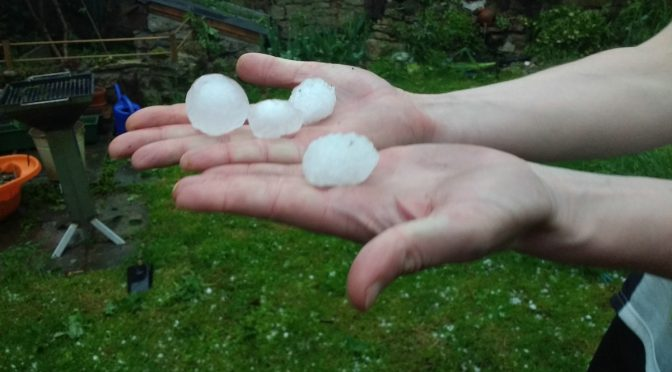 Hagel in Kapellendorf