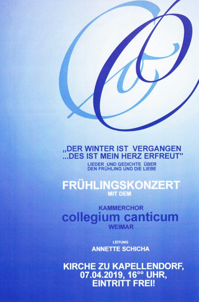Konzert mit dem Kammerchor Collegium Canticum