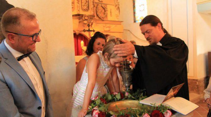 Zu Gast in Oberndorf mit Taufe